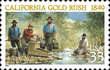 gold rush map of california. California Gold Rush: Bust or
