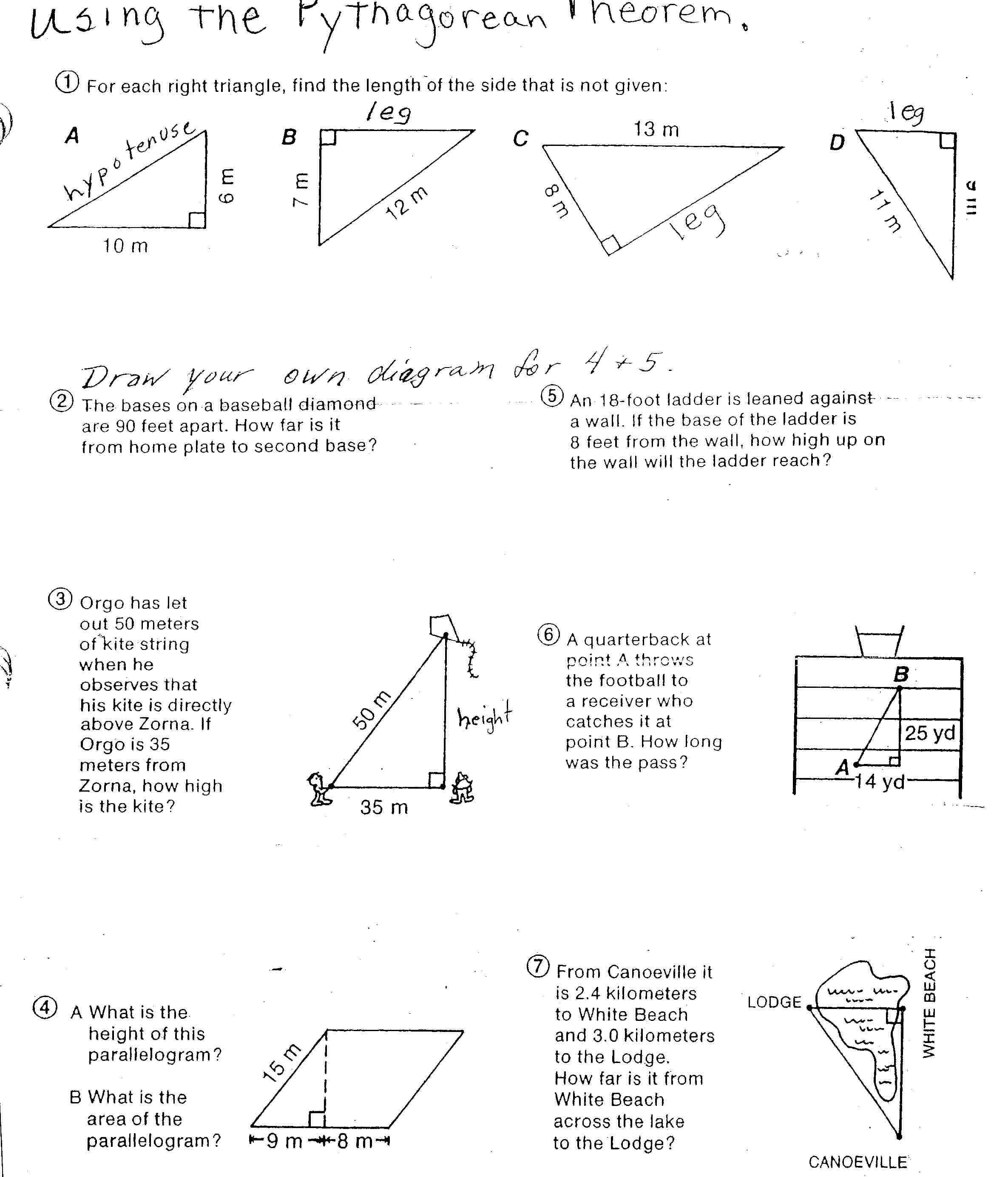 Basic Trigonometry Worksheets – Vector Addition Worksheets