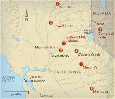 california gold mines map   Printable Maps