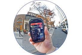 smart phone outside